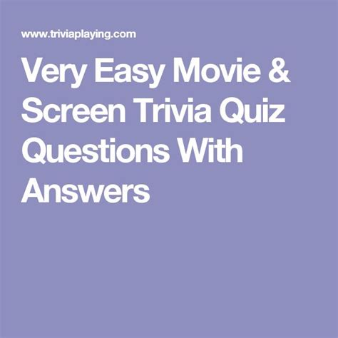 easy film quiz with answers best 25 easy quiz questions ideas on pinterest fun quiz