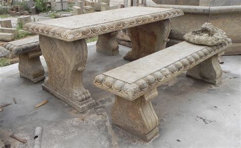 bench stones antique stone table and bench set tianjin shirun