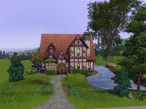European House Plans One Story mod the sims cambridge cottage