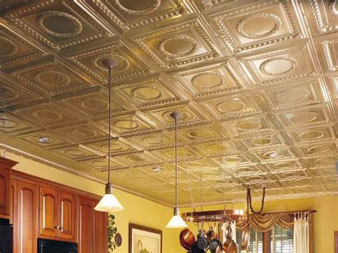 how to repairs how to install faux tin mental ceiling