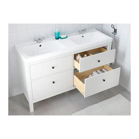 ikea double vanity hemnes odensvik bathroom vanities drawers and vanities
