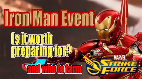 marvel strike force iron man eventis worth