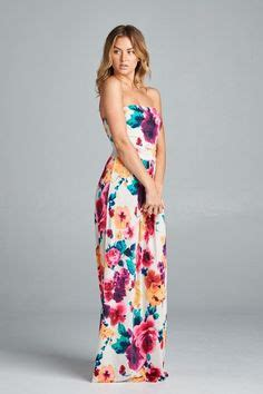 Teresa Flowery Maxi Dress 1000 ideas about strapless maxi dresses on