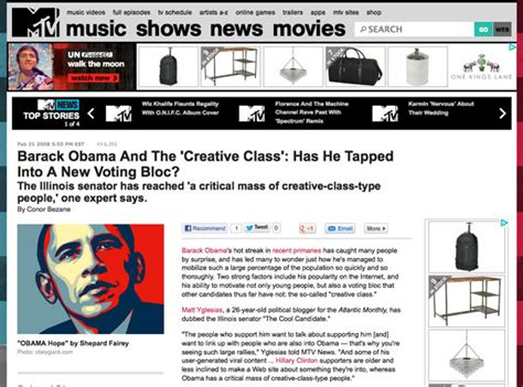 barack obama biography article conor bezane official site obama and the creative class