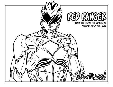 red ranger power rangers 2017 movie draw it too