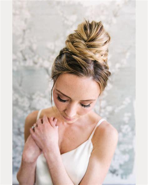 Wedding Hair Ballerina Bun by 16 High Bridal Buns Mon Cheri Bridals