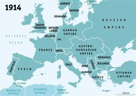 european map 1914 how wwi reshaped europe