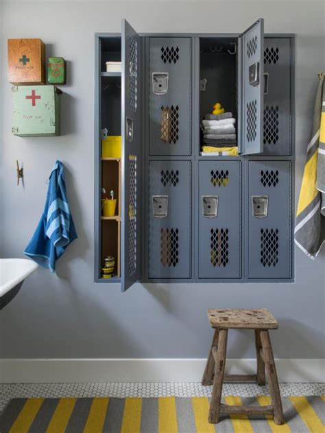 kids bathroom storage ideas creative decorating with vintage lockers the tao of dana