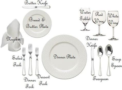 formal place setting diagram quot manners in a minute quot promotional products corporate
