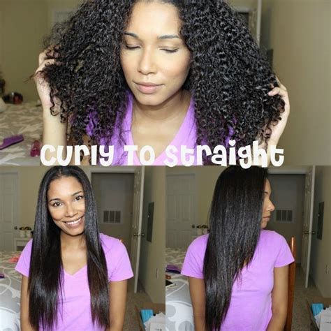 Hair Dryer To Straighten Curly Hair how to straighten curly hair no drying