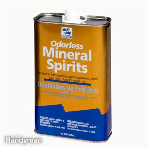 mineral cleaning mineral spirits vs paint thinner the family handyman