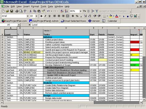excel project plan template madinbelgrade