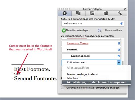 format footnotes in word mac scrivener and paragraph character styles in microsoft word