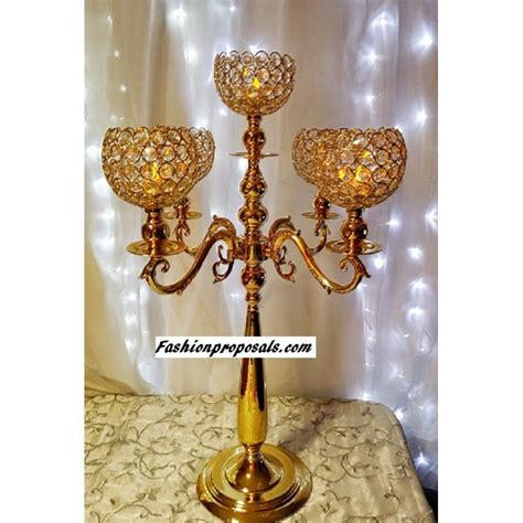 gold candelabra 2 wedding gold crystal globe candelabra 5 arms with