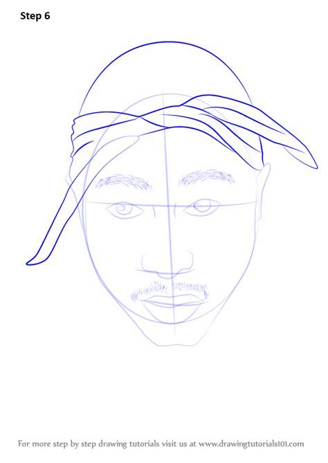 how to draw step by step how to draw 2pac drawingtutorials101