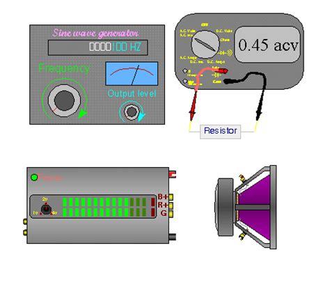 measure voltage across resistor speaker calculations