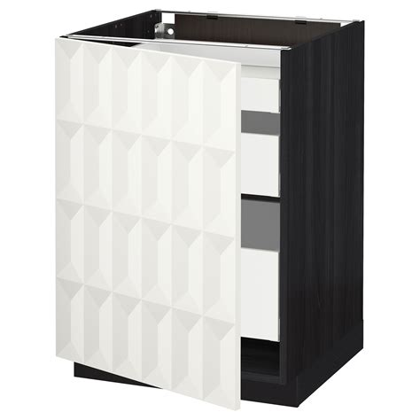 ikea kitchen base cabinet metod maximera base cabinet with 1 door 3 drawers black