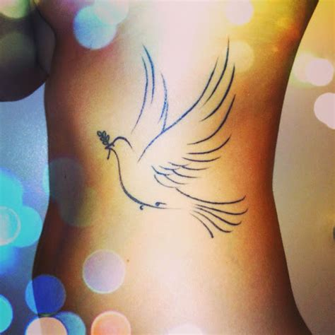 dove tattoo on ribs 50 cute and lovely dove tattoos for men and women