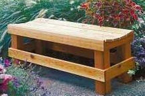 how to make a wooden bench with a back how to build wood outdoor benches hunker