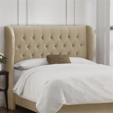 tufted wingback headboard tufted wingback velvet upholstered headboard www