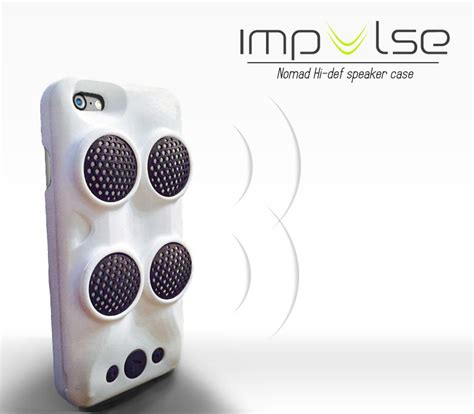Funky For Iphone 6 Plus 1 impulse iphone packs speakers technabob