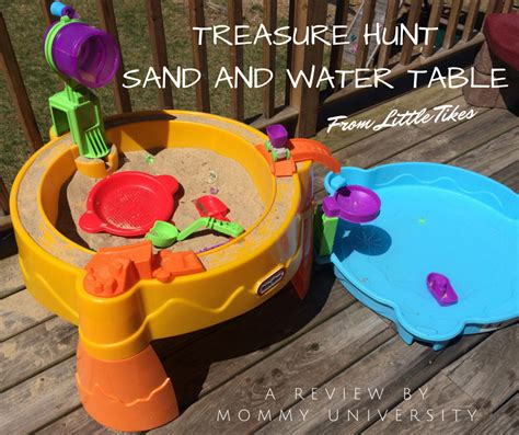 tikes sand and water table brain boosting outdoor with tikes treasure hunt