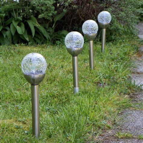 Led Leuchten Für Den Garten by Solar Garten Led Leuchtkugeln Edelstahl