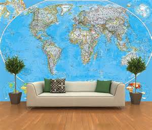 Self Adhesive Wall Mural Self Adhesive World Map Decorating Photo Wall Mural