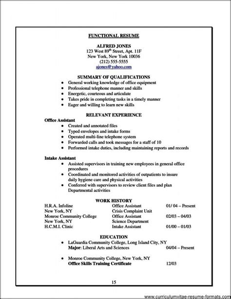 Free Resume Sles For Office Assistant Free Resume Templates For Office Assistants