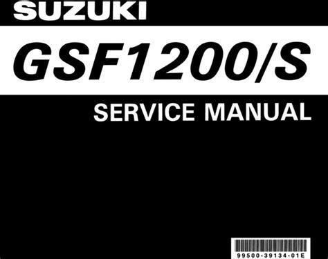 Suzuki Gsf 1200 S Gsf1200s 1996 1999 Service Amp Repair