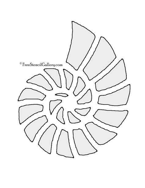 printable seashell stencils seashell 02 stencil free stencil gallery