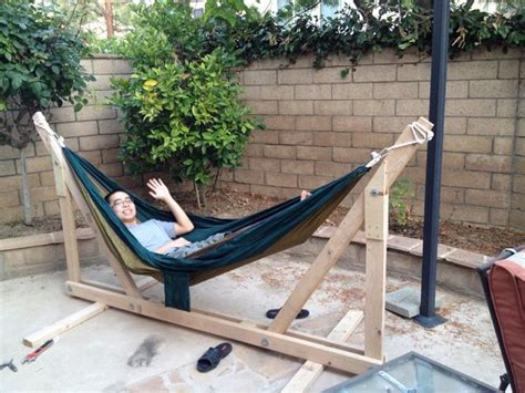 How To Make A Hammock Diy Wooden Hammock Stand