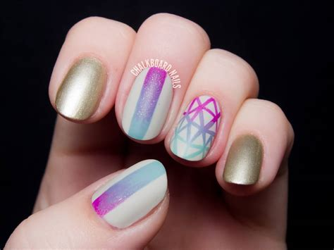 geometric pattern nail art geometric gradient nail art design idea