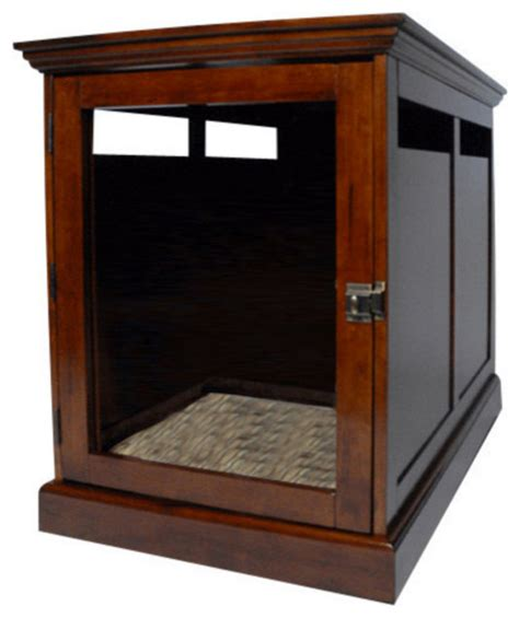 designer crates townhaus designer crate mahogany xlarge traditional kennels and crates