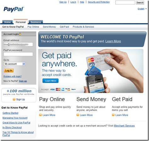 paypal home page design paypal s new website with before and after