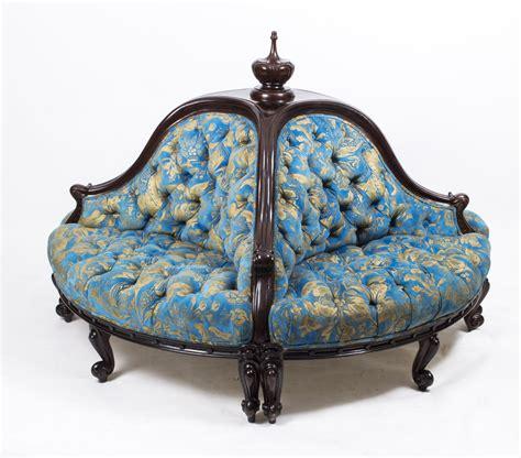 conversation settee antique victorian mahogany conversation settee c 1880