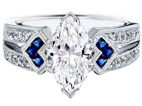 engagement ring marquise engagement ring trio