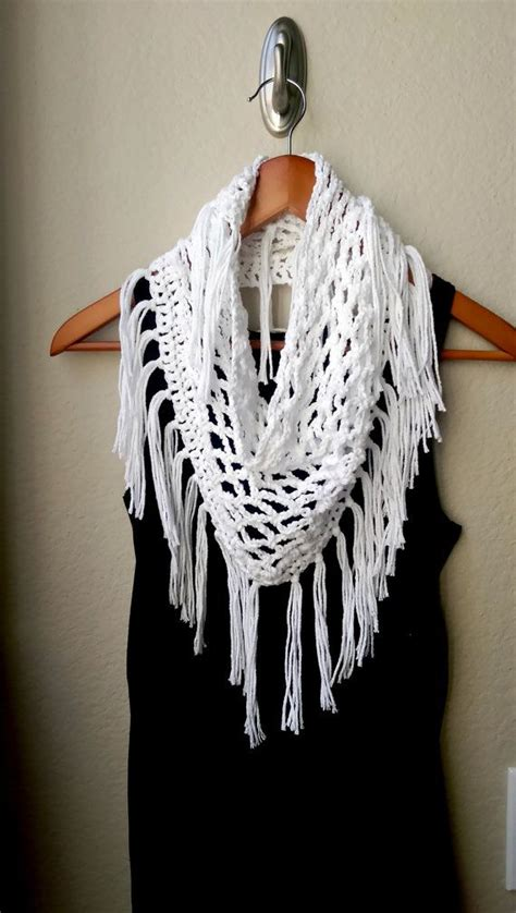 knitting pattern light scarf light crochet fringe scarf summer pattern available at