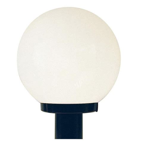 Globe Patio Lights Home Depot Luminance Black Outdoor Builder Light With White Acrylic Globe F9152 31 The Home Depot