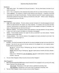 Writing An Expository Essay by Essay Outline Template 10 Free Free Word Pdf Format
