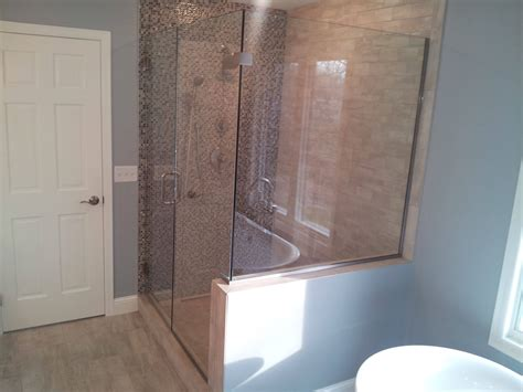 Custom Cut Shower Glass by See Our Work Custom Glass Shower Enclosures Minneapolis