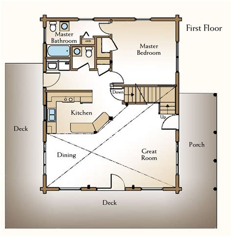 cabin floor plans  loft     shed plans