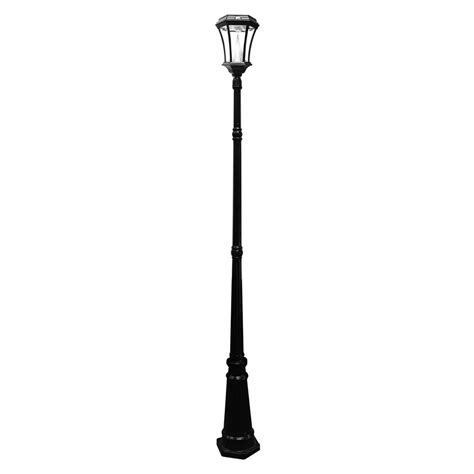 gama sonic solar powered l post gama sonic victorian solar black outdoor l post gs 94s