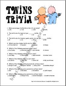 twins trivia game example kids got twins pinterest