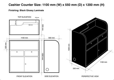 Standard Counter Height for sale acrylic display showcases and cashier counter