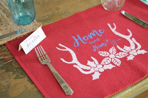 diy placemats for your kitchen debbiedoos