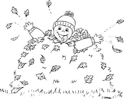 leaf pile coloring page coloring kid and pile of leaves picture