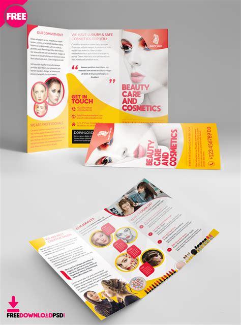 beauty salon brochure template salon trifold brochure template freedownloadpsd