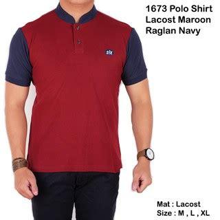 Pakaian Atasan Setelan Wanita Shirt Parka Maroon Muslim polo shirt kaos kerah shanghai pria cowo laki laki maroon