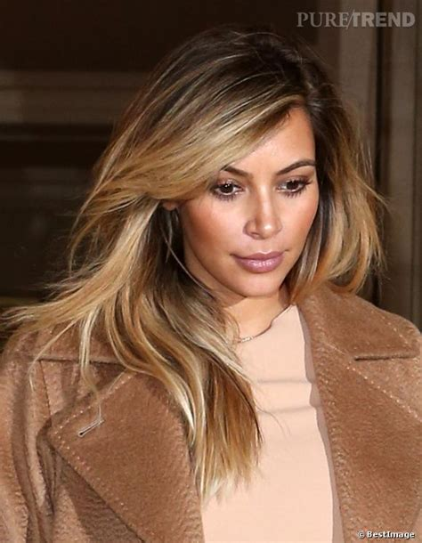 kim kardashian blonde balayage highlights photos kim kardashian brown balayage